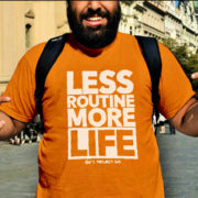 Less Routine More Life (Orange) Nav